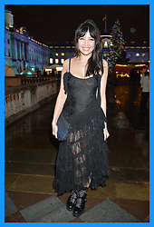 DAISY LOWE at Skate At Somerset House with Fortnum & Mason on 16th November 2016.