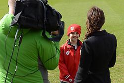 Connor is interviewed by Sky Sports - Photo mandatory by-line: Dougie Allward/JMP - Mobile: 07966 386802 - 01/04/2015 - SPORT - Football - Bristol - Bristol City Training Ground - HR Owen and SAM FM
