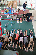 NANNING, CHINA - (CHINA OUT) <br /> <br /> Gymnastics Children In Nanning<br /> <br /> Children aged 4 to 13 take part in a gymnastics training session at Nanning Sports School on June 17, 2013 in Nanning, Guangxi Province of China.<br /> ©Exclusivepix