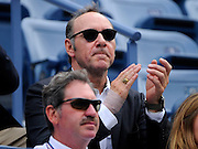 08.SEPTEMBER.2012. NEW YORK<br /> <br /> KEVIN SPACEY WATCHES SCOTLAND'S ANDY MURRAY V CZECH REPUBLIC'S THOMAS BERDYCHS SEMI-FINAL MATCH AT THE 2012 US OPEN CHAMPIONSHIPS IN NEW YORK CITY.<br /> <br /> BYLINE: EDBIMAGEARCHIVE.CO.UK<br /> <br /> *THIS IMAGE IS STRICTLY FOR UK NEWSPAPERS AND MAGAZINES ONLY*<br /> *FOR WORLD WIDE SALES AND WEB USE PLEASE CONTACT EDBIMAGEARCHIVE - 0208 954 5968*