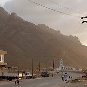 Hadiboh town at sunset, Socotra island, listed as World Heritage by UNESCO, Aden Governorate, Yemen, Arabia, West Asia