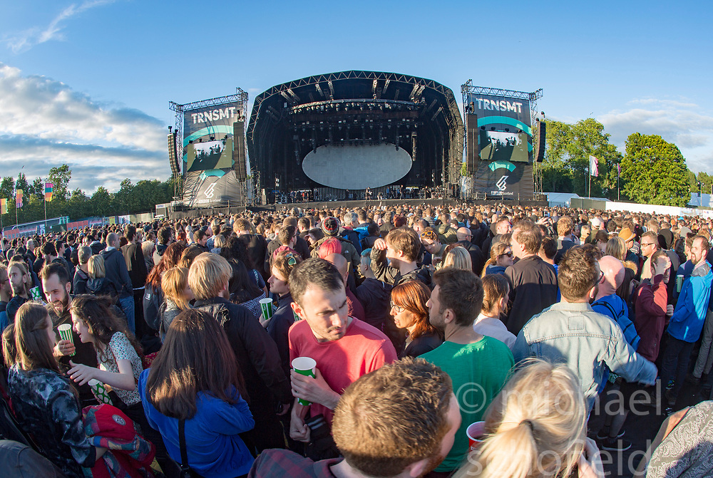 Main stage on Friday at TRNSMT music festival, Glasgow Green.