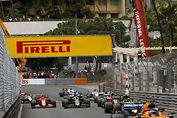 May 26, 2019 - Monte Carlo, Monaco - Motorsports: FIA Formula One World Championship 2019, Grand Prix of Monaco, ..Start, #27 Nico Hulkenberg (GER, Renault F1 Team), #4 Lando Norris (GBR, McLaren F1 Team), #8 Romain Grosjean (FRA, Rich Energy Haas F1 Team), #16 Charles Leclerc (MCO, Scuderia Ferrari Mission Winnow) (Credit Image: © Hoch Zwei via ZUMA Wire)