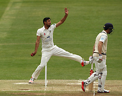 Durham's Usman Arshad bowls - Photo mandatory by-line: Robbie Stephenson/JMP - Mobile: 07966 386802 - 03/05/2015 - SPORT - Football - London - Lords  - Middlesex CCC v Durham CCC - County Championship Division One