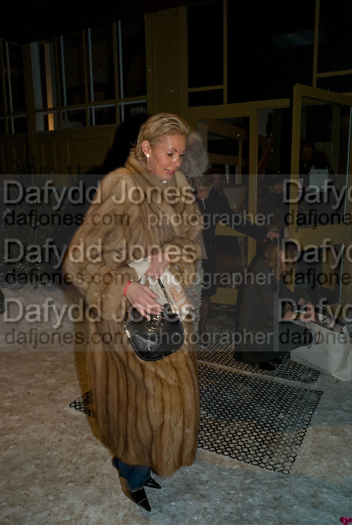 ANDREA BRINKMAN, Dinner, Awards ceremony and dancing in aid of the Knights of Malta. Maloja Palace.  St. Moritz, Switzerland. 24 January 2009 *** Local Caption *** -DO NOT ARCHIVE-© Copyright Photograph by Dafydd Jones. 248 Clapham Rd. London SW9 0PZ. Tel 0207 820 0771. www.dafjones.com.<br /> ANDREA BRINKMAN, Dinner, Awards ceremony and dancing in aid of the Knights of Malta. Maloja Palace.  St. Moritz, Switzerland. 24 January 2009