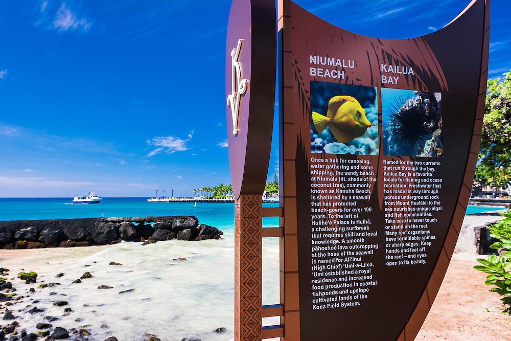 Niumalu Beach at Kailua Bay, Kailua-Kona, The Big Island, Hawaii USA