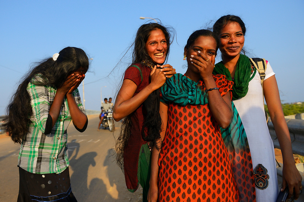 Girls by Pulicat Lake, Tamil Nadu, India
