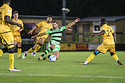 Forest Green Rovers Aarran Racine (21) during the Vanarama National League match between Forest Green Rovers and Sutton United at the New Lawn, Forest Green, United Kingdom on 9 August 2016. Photo by Shane Healey.