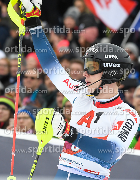 26.01.2020, Streif, Kitzbühel, AUT, FIS Weltcup Ski Alpin, Slalom, Herren, im Bild Clement Noel (FRA) // Clement Noel of France during the men's Slalom of FIS Ski Alpine World Cup at the Streif in Kitzbühel, Austria on 2020/01/26. EXPA Pictures © 2020, PhotoCredit: EXPA/ Erich Spiess
