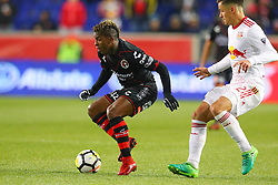 March 13, 2018 - Harrison, NJ, U.S. - HARRISON, NJ - MARCH 13:  Tijuana forward Miller Bolanos (32) during the second half of the CONCACAF Champions League Quarter-final match between the New York Red Bulls and Club Tijuana on March 13, 2018, at Red Bull Arena in Harrison, NJ.  (Photo by Rich Graessle/Icon Sportswire) (Credit Image: © Rich Graessle/Icon SMI via ZUMA Press)
