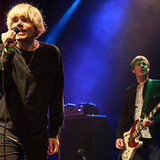 Martin Blunt and Tim Burgess of The Charlatans performs at the Howard Theatre in Washington, D.C.