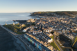 © Licensed to London News Pictures. Aberystwyth Wales UK,  26/02/2019. Daybreak at Aberystwyth harbour , Ceredigion West Wales, on yet another day of clear skies. Yesterday the area around the town experienced the hottest ever recored February temperatures in the UK, reaching 20.3ºc at Trawsgoed. 
