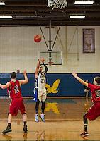 41st annual holiday basketball tournament at Gilford High School.  Boys semi final Belmont versus Winnisquam.  Karen Bobotas/for the Laconia Daily Sun