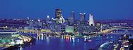 Pennsylvania. Pittsburgh skyline at dawn