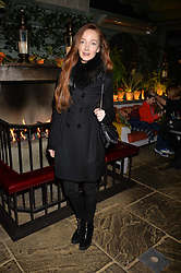 Olivia Grant at The Ivy Chelsea Garden's Guy Fawkes Party, 197 King's Road, London, England. 05 November 2017.