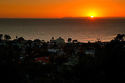 Sunset Over Catalina Island In Laguna Beach