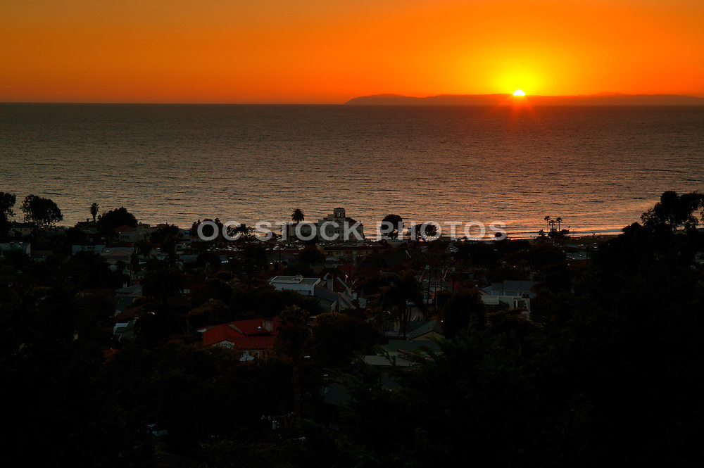 Sunset Over Catalina Island In Laguna Beach