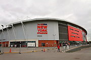 Shot of the stadium from outside before the EFL Sky Bet League 1 play off second leg match between Rotherham United and Scunthorpe United at the AESSEAL New York Stadium, Rotherham, England on 16 May 2018. Picture by Nigel Cole.