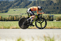Annemiek van Vleuten (NED) on her way to victory at UCI Road World Championships 2018 - Elite Women's ITT, a 27.7 km individual time trial in Innsbruck, Austria on September 25, 2018. Photo by Chris Auld/velofocus.com