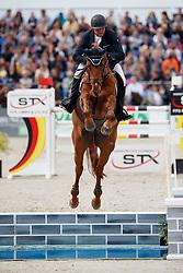 HEYER Joachim (GER), Aquarell PW<br /> Hagen - Horses and Dreams meets the Royal Kingdom of Jordan 2018<br /> Grosser Preis der DKB Qualifikation DKB-Riders Tour<br /> 30 April 2018<br /> www.sportfotos-lafrentz.de/Stefan Lafrentz