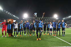 April 19, 2018 - Brugge, BELGIUM - Club's players celebrate after winning the Jupiler Pro League match between Club Brugge and Sporting Charleroi, in Brugge, Thursday 19 April 2018, on day four of the Play-Off 1 of the Belgian soccer championship. BELGA PHOTO BRUNO FAHY (Credit Image: © Bruno Fahy/Belga via ZUMA Press)