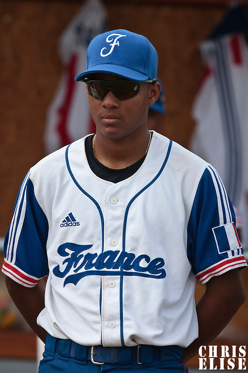 19 August 2010: Andy Paz Garriga of Team France stands prior to France 7-6 win over Slovakia, at the 2010 European Championship, under 21, in Brno, Czech Republic.
