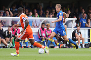 AFC Wimbledon defender Paul Robinson (6) dribbling during the EFL Sky Bet League 1 match between AFC Wimbledon and Shrewsbury Town at the Cherry Red Records Stadium, Kingston, England on 12 August 2017. Photo by Matthew Redman.