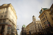 The Graben, one of Vienna's main shopping streets and pedestrian zone at the center.