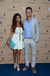 The Johnnie Walker Gold Label Reserve Party aboard John Walker & Sons Voyager, St.Georges Stairs Tier, Butler's Wharf Pier, London, UK on 17th July 2013.<br /> Picture Shows:-Preeya Kalidas and Sam Vallance