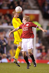 Manchester, England - Thursday, April 26, 2007: Liverpool's Stephen Darby and Manchester United's Daniel Galbraith during the FA Youth Cup Final 2nd Leg at Old Trafford. (Pic by David Rawcliffe/Propaganda)