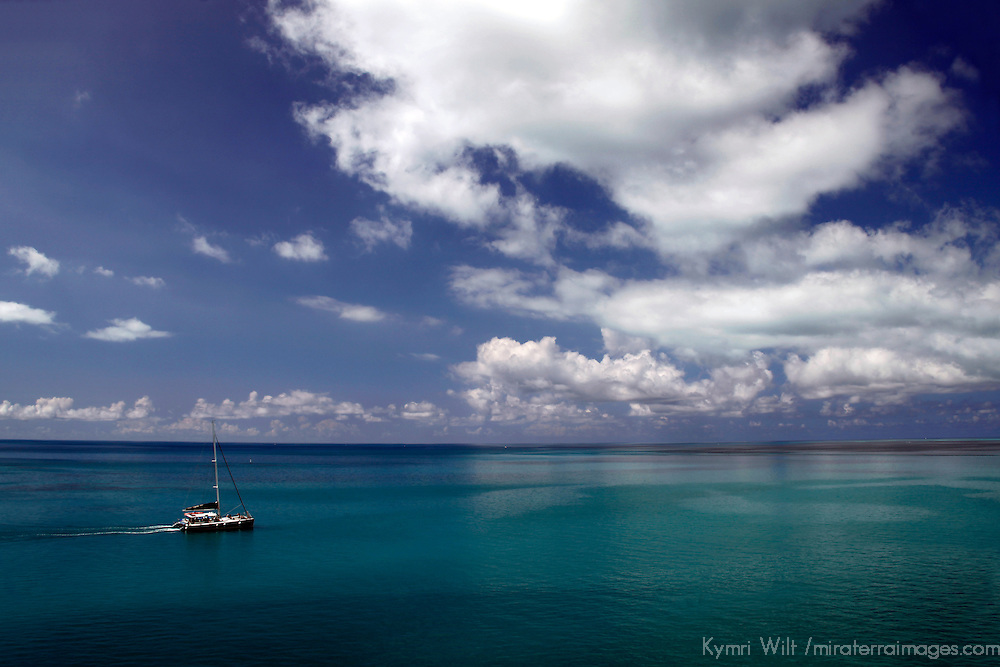 Bermuda. Boat on the beautiful seas surrounding Bermuda in the Atlantic.
