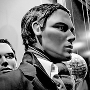 Mannequin behind bw, London, England (November 2004)
