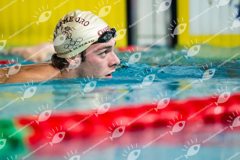 Gregorio Paltrinieri Italy ITA<br /> Fiamme Oro<br /> 800 Stile Libero Uomini<br /> Riccione 19-12-2014 Stadio del Nuoto, Campionati Italiani Assoluti Invernali 2014 Nuoto Day01 Pomeriggio<br /> Photo Andrea Masini/Deepbluemedia/Insidefoto