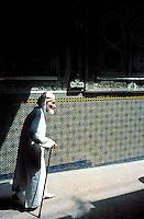 Maroc, Fes, Les souks de Fes el Bali, La Medina, Zaouïa Moulay Idriss