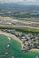 Aerial view of Isla Verde Beach and Airport