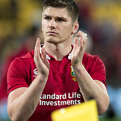 Owen Farrell   during game 9 of the British and Irish Lions 2017 Tour of New Zealand, the second Test match between  The All Blacks and British and Irish Lions, Westpac Stadium, Wellington, Saturday 1st July 2017<br /> (Photo by Kevin Booth Steve Haag Sports)<br /> <br /> Images for social media must have consent from Steve Haag