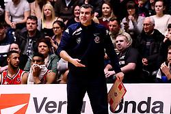 Bristol Flyers head coach Andreas Kapoulas - Photo mandatory by-line: Robbie Stephenson/JMP - 01/03/2019 - BASKETBALL - Eagles Community Arena - Newcastle upon Tyne, England - Newcastle Eagles v Bristol Flyers - British Basketball League Championship
