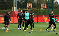 Victor Lindelof of Manchester United trains with team mates - Mandatory by-line: Matt McNulty/JMP - 11/09/2017 - FOOTBALL - AON Training Complex - Manchester, England - Manchester United v FC Basel - Press Conference & Training - UEFA Champions League - Group A
