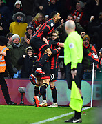 Goal - David Brooks (20) of AFC Bournemouth celebrates scoring a goal to give a 2-0 lead to the home team during the Premier League match between Bournemouth and Chelsea at the Vitality Stadium, Bournemouth, England on 30 January 2019.