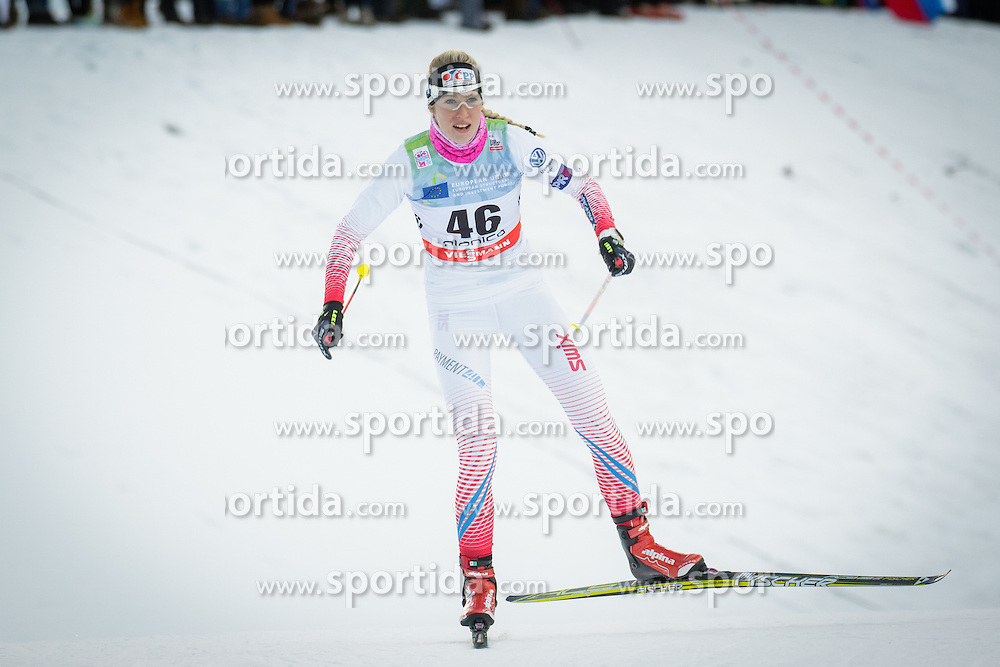 Sandra Schuetzova (CZE) during Ladies 1.2 km Free Sprint Qualification race at FIS Cross<br /> Country World Cup Planica 2016, on January 16, 2016 at Planica,Slovenia. Photo by Ziga Zupan / Sportida