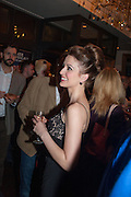 AMY ELLEN RICHARDSON, The press night performance of the Menier Chocolate Factory's 'Merrily We Roll Along', following its transfer to the Harold Pinter Theatre, After-show party at Grace Restaurant, Gt. Windmill St. London. 1 May 2013.