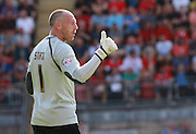Barnet goalkeeper, Graham Stack during the Sky Bet League 2 match between Leyton Orient and Barnet at the Matchroom Stadium, London, England on 8 August 2015. Photo by Bennett Dean.