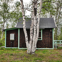Hunting Lodge in eastern Rautas river, Lapland, Sweden