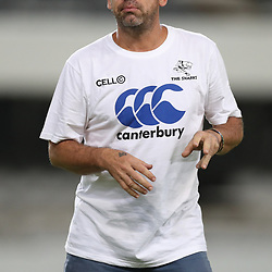 John Hooper (Masseur) of the Cell C Sharks during the Super Rugby match between the Cell C Sharks and the Southern Kings at Growthpoint Kings Park in Durban, South Africa. 18th March 2017(Photo by  Ralph Schroder -Steve Haag Sports)