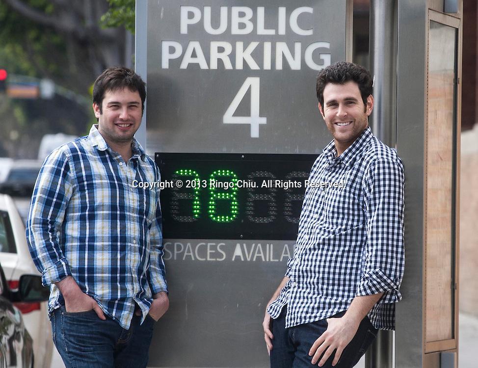 Sam Friedman (L) and Alex Israel, co-founders of Parkme. (Photo by Ringo Chiu/PHOTOFORMULA.com)