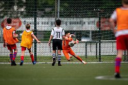 Keeper Dean #1 of VV Maarssen in action. VV Maarssen O14-1 played a friendly game against CDW O15-2. Maarssen won 9-2 on July 11, 2020 at Daalseweide sports park Maarssen.