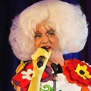 NLD/Amsterdam/20150324 -  boekpresentatie Het Grote Songfestival boek, Dolly Bellafelur