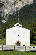 The chapel Sankt Cassian in Lenz, Parc Ela, Grisons, Switzerland