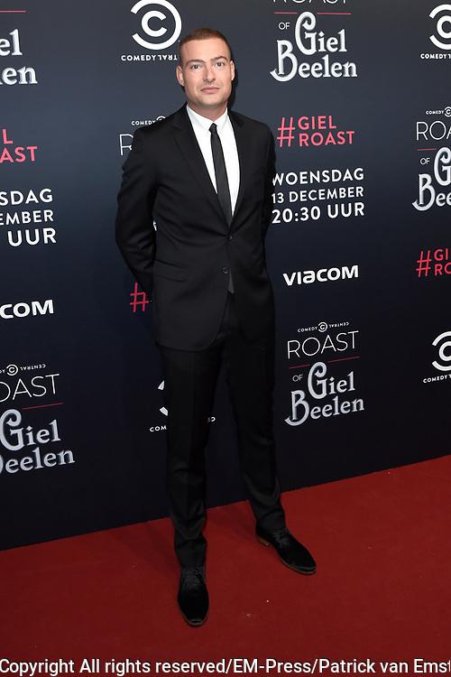 Rode loper Roast of Giel.  In het programma van Comedy Central is een bekende Nederlander een avond lang het onderwerp van harde grappen.<br /> <br /> Op de foto:  Lange Frans