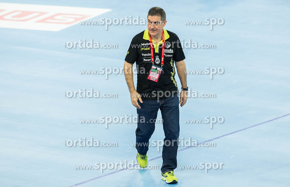 Manuel Cadenas Montanes, head coach of Spain after the handball match between National teams of Spain and Sweden on Day 6 in Preliminary Round of Men's EHF EURO 2016, on January 20, 2016 in Centennial Hall, Wroclaw, Poland. Photo by Vid Ponikvar / Sportida